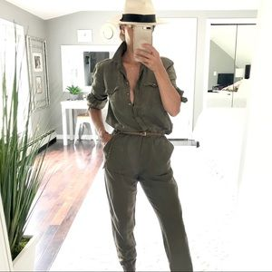 Army Green utility jumpsuit coverall size small
